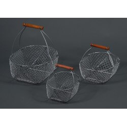 Panier de pêche métallique