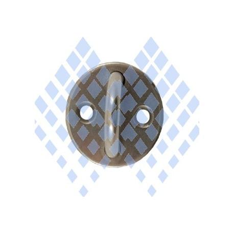 Etrier inox forgé sur platine ronde diamètre 40mm