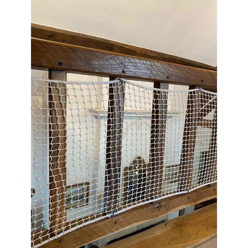 Diam/ètre de maille 5CM Filet de rambarde Filet de construction de b/âtiment Filet de protection descalier pour enfants Filet de cl/ôture de jardin Filet de s/écurit/é blanc taille: 2 * 3M