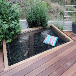 Filet trampoline extérieur, hamac et sunbed